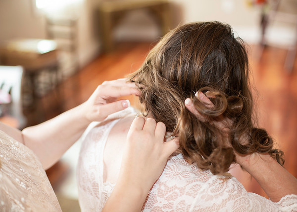 Bridal Hair - Wedding at Nolichucky Vineyard by Everbright Photography