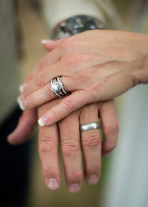 Rings, diamonds and Damascus steel by Everbright Photography