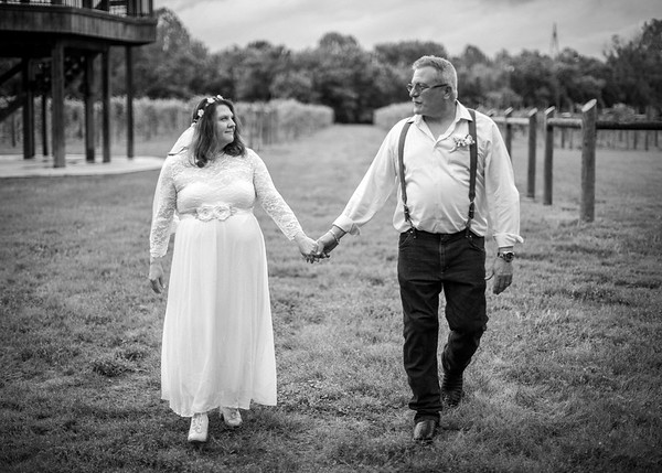 Bride and Groom in Vineyard, Wedding at Nolichucky Vineyard by Everbright Photography