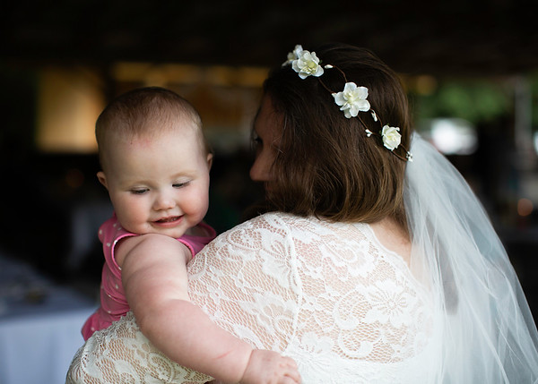 Bride and granddaughter by Everbright Photography
