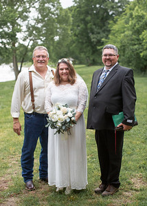 Couple with Minister, Wedding at Nolichucky Vineyard by Everbright Photography