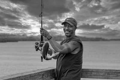 Gold Tooth Fisherman-2- B&W-Wms Park-25