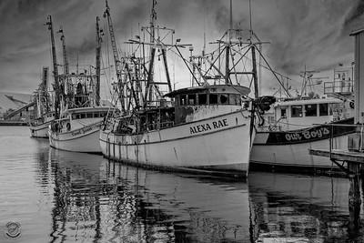Alexa Rae Shrimp Boat-B&W-6