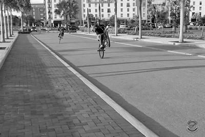 Cyclists & Night Shots-B&W-21