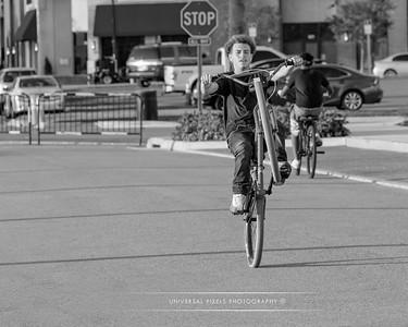 Cyclists & Night Shots-B&W-12