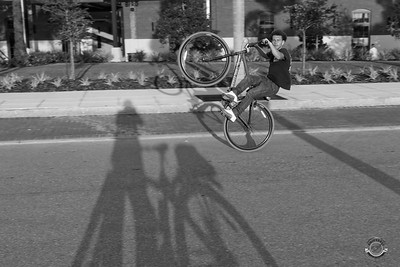 Cyclists & Night Shots-B&W-47