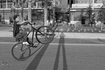 Cyclists & Night Shots-B&W-122