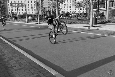 Cyclists & Night Shots-B&W-22