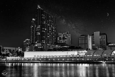Curtis Hixon-Riverwalk-Starry Night-B&W-15