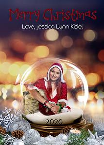 Jessica Kisiel-5x7 Photo Card - Twinkling Snow Globe