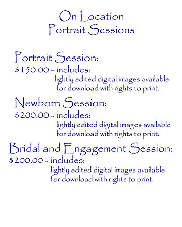 2017 G Photography portrait prices