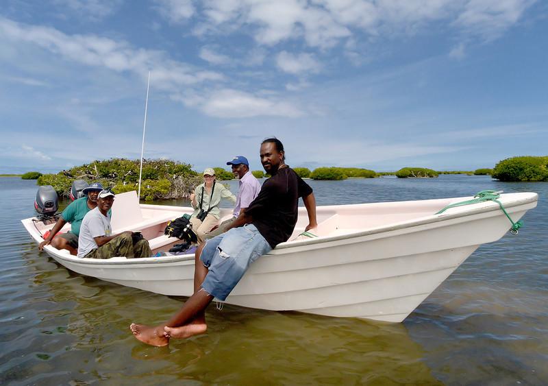 Codrington crew, Codrington Lagoon, Barbuda, 2013