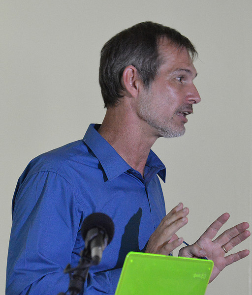 Graham White addressing the EAG avitourism workshop in Antigua, 25 June 2013, by Ted Lee Eubanks