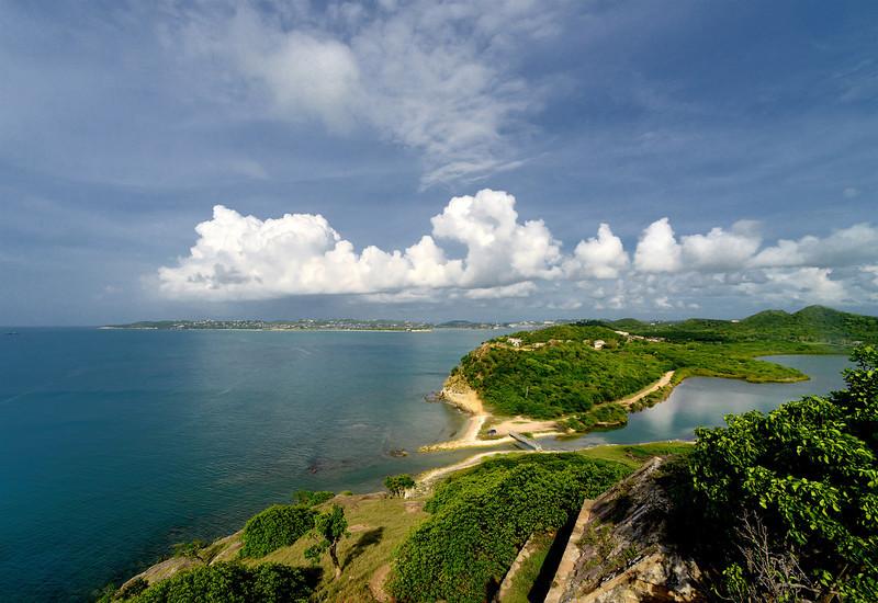St John's Harbor from Fort Barrington, Antigua, 2013