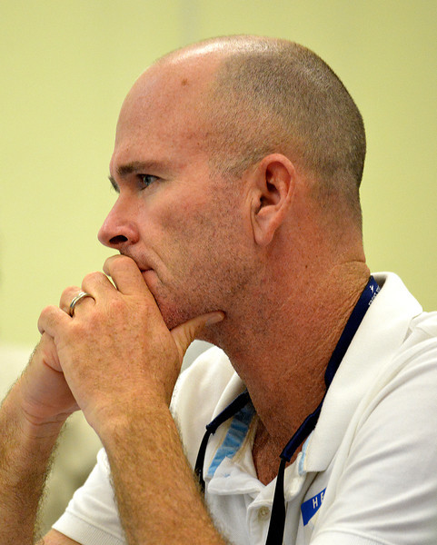Eli Fuller participating in the EAG avitourism workshop in Antigua, 26 June 2013, by Ted Lee Eubanks.