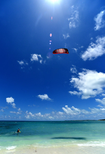 Kite boarding, Jabberwocky, Antigua, 2013