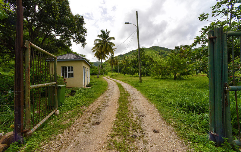 Christian Valley Birding Trail entrance, Antigua, 2013