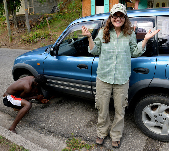 The Holly and Ted flat tire saga, Antigua, 2013