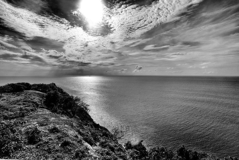 Caribbean Sea from Fort Barrington, Antigua, 2013
