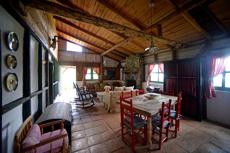 Interior of our cabin in Villa Pajon