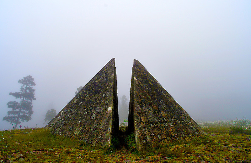 Pyramidsis at the Parque Nacional Valle Nuevo Visitors Center. Once believed to be the center of the island, the structure, in fact, was erected as a token of gratitude to the dictator Rafael Leonidas Trujillo Molina in the construction of the road between San José de Ocoa with Constanza.
