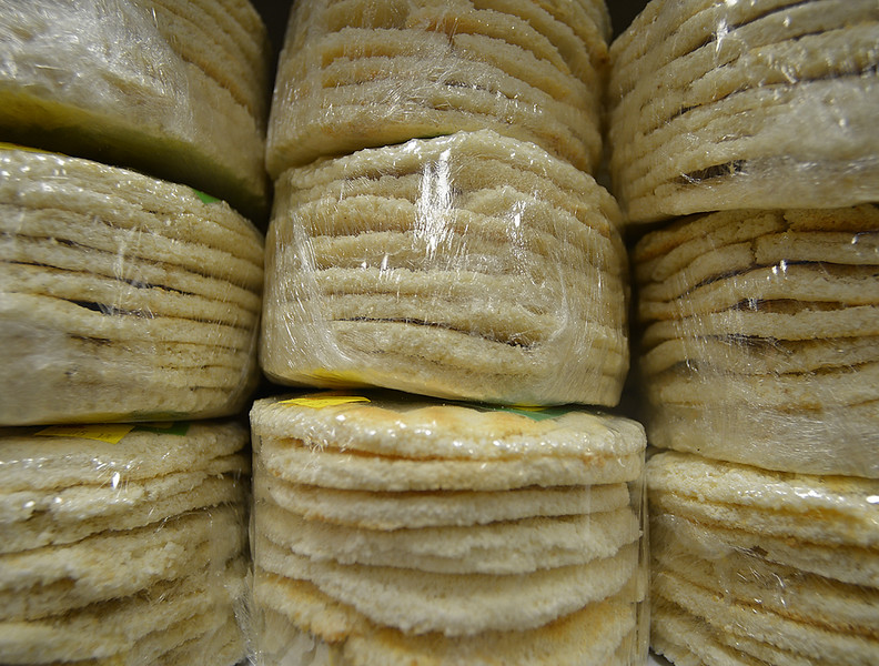 Cassava bread in a Santo Domingo market