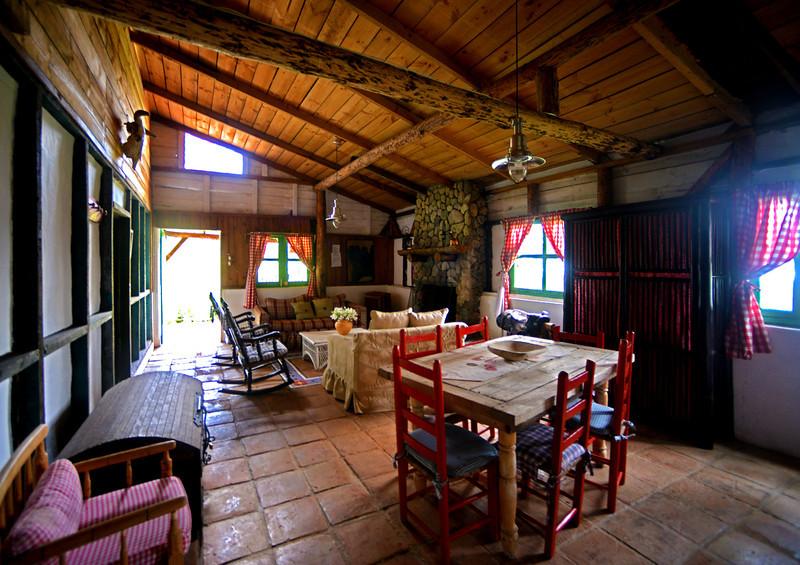 Interior of our cabin at Villa Pajon