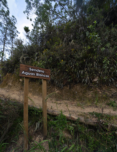 Trailhead for the hike up to the top of Aguas Blancas