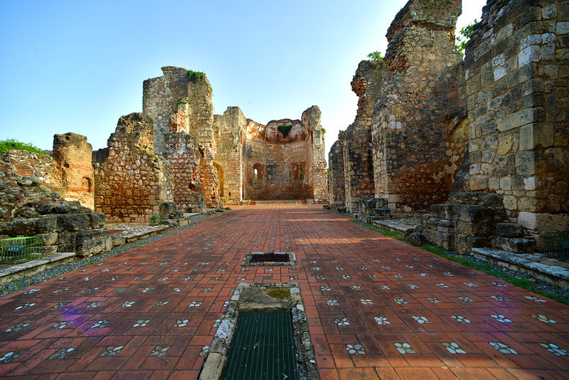 Ruinas del Monasterio de San Francisco in the Zona Colonial in Santo Domingo