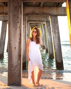 Julia's bridal session at the Naples Pier, Naples, Florida.