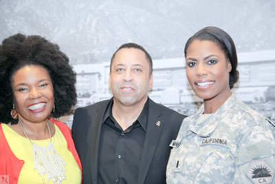 Gael Sylvia Pullen, Sir Keith Holman and Chaplain Omarosa Manigault