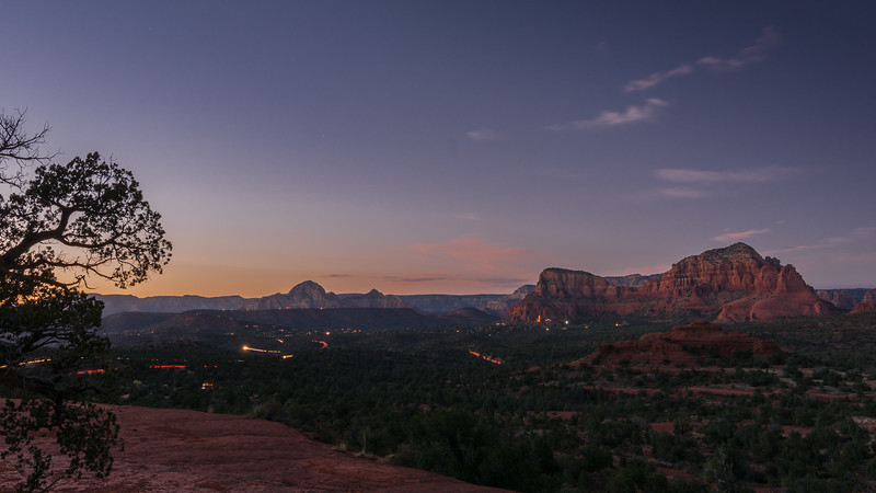Night Falls on Sedona