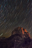 Stars Fall on Courthouse Butte