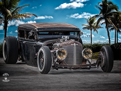 Black rat Rod sedan
