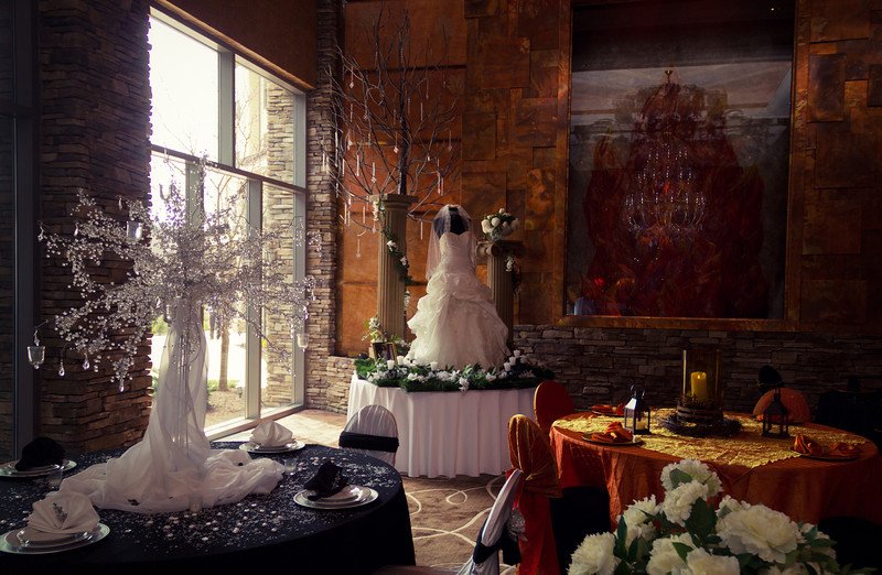The Lobby of Mount Airy Casino Resort, decorated for the NEPA Bridal Show.<br /> © Mark Luethi Photography