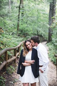 Brittany & John's engagement photography at Natural Bridge State Resort Park 9.5.17.