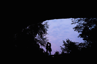Brittany & John's engagement photography at Natural Bridge State Resort Park 9.5.17.