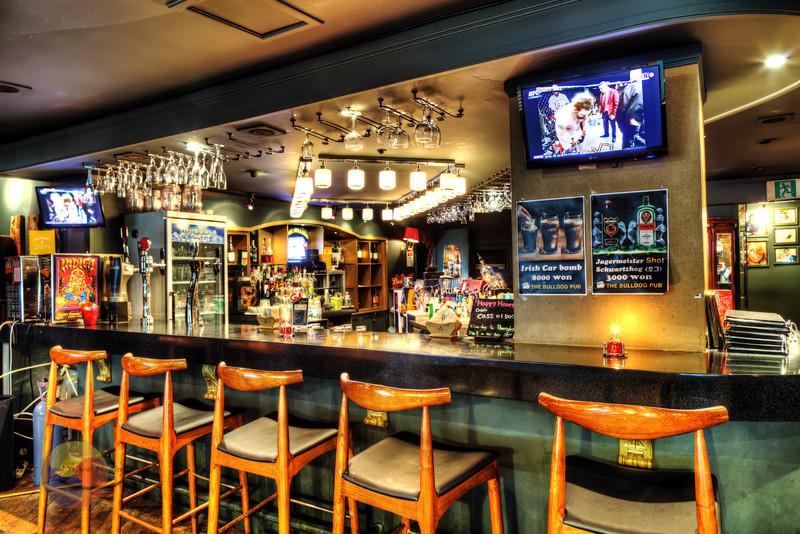 Corner bar with TV's