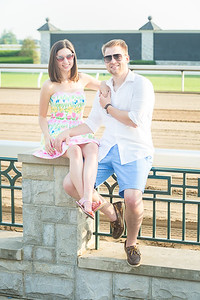 Caitlin & Shawn's engagement session at Keeneland in Lexington, KY 6.7.15.   © 2015 Love & Lenses Photography/ Becky Flanery   www.loveandlenses.photography