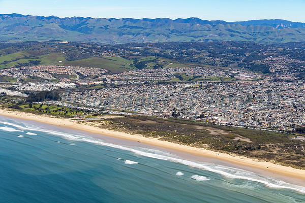Looking over Grover Beach towards the East