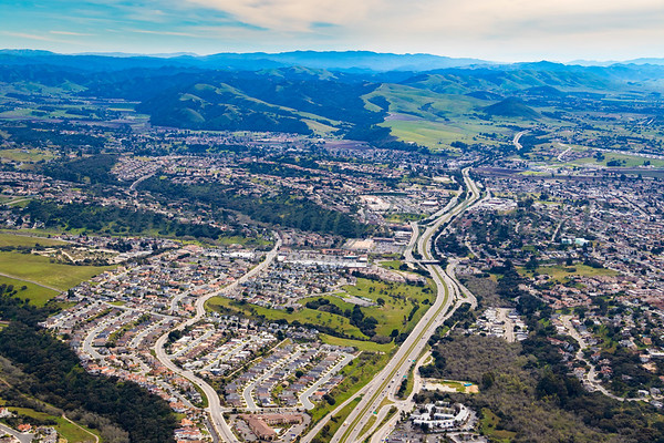 Looking South over Pismo, Grover and Arroyo Grande