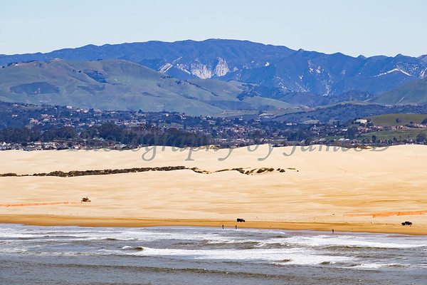 Looking East over the Dunes, Arroyo Grande and toward High Mountain.