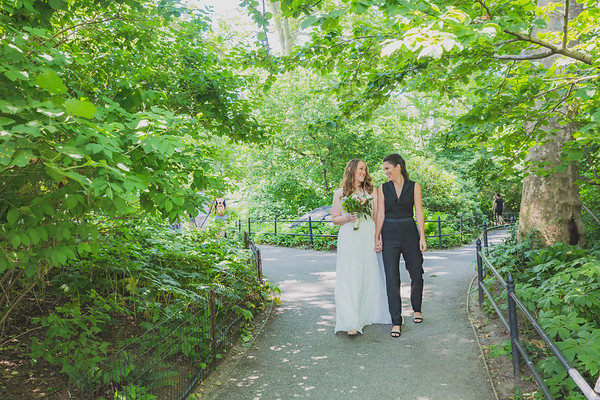 Central Park Elopement Wedding - Kelsey & Caitie