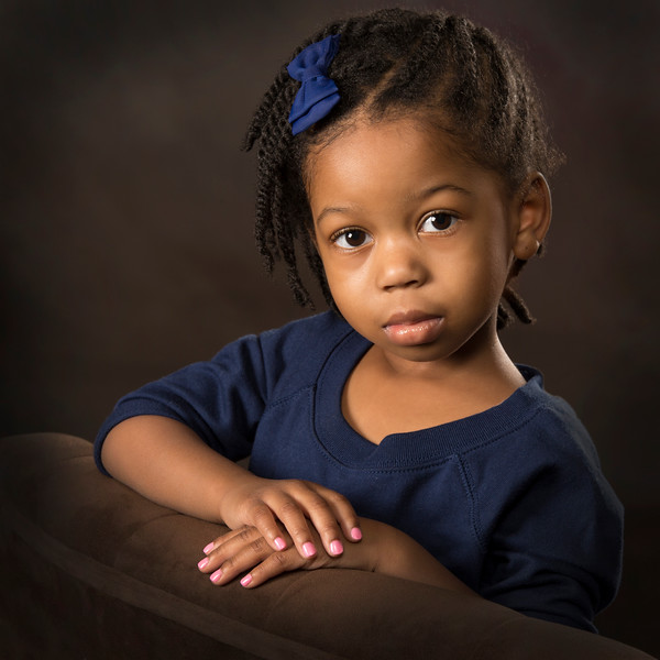 Child's studio portrait
