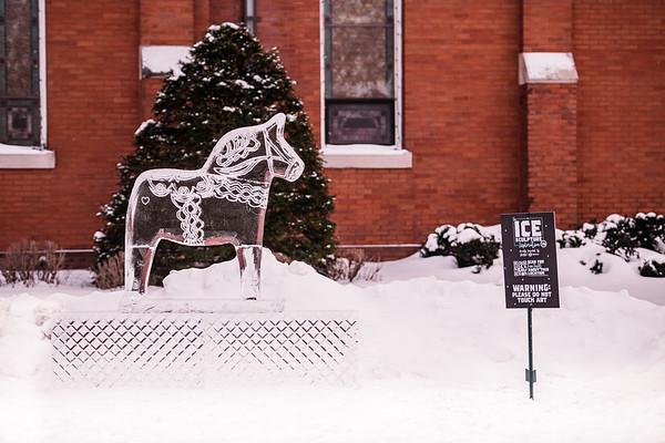 Dala Horse Ice Sculpture-0001