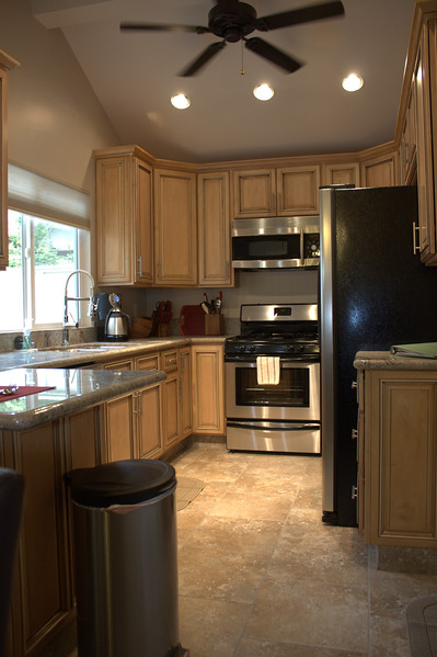 A beautiful kitchen with everything you need to prepare a large dinner or quick snack