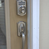 This is our state of the art security system. You will be assigned a personal code number to access the house from the front or garage door.