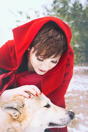 {Little Red Riding Hood}  Fairytales  by thecorielee | Hair & Makeup: Corie Lee Mackey, Model: Ellen McCann, Lexington, KY 1.26.15.