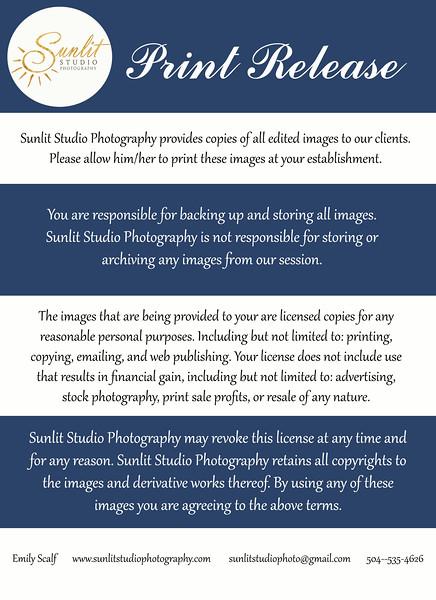Sunlit Studio Print Release