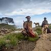 Basotho Men And Their Dogs On The Drakensberg Escarpment